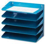 AVERY LETTER RACK 5TIER BLUE 605