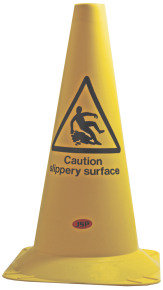 JSP 50CM CONE CAUTION SLIPPERY SURFACE