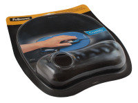 FELLOWES CRYSTAL MOUSEPAD/WRIST REST BLK