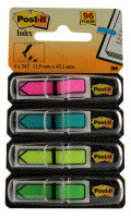 3M POSTIT INDEX REFILL 4 BRIGHT ARROWS