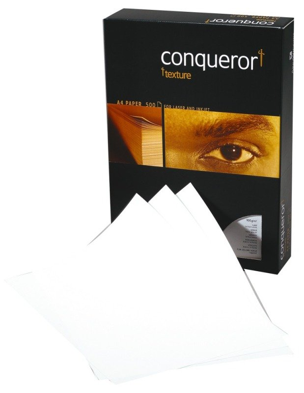 Image of CONQUEROR LAID BRILL WHT A4 100GSM PK500