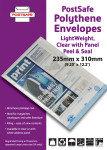 POSTSAFE LW ENV 235X310 CLR WWT PNL P100
