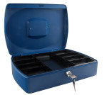 Q Connect 12 Inch Cash Box - Blue