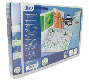 Elba Panorama Pres Binder A3 4d 30mm Wht - 2 Pack