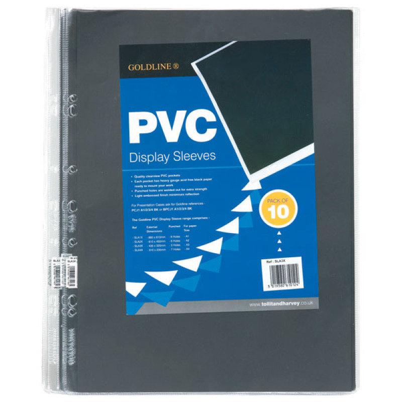 Goldline Polypropylene Display Sleeves A3 10 Pack
