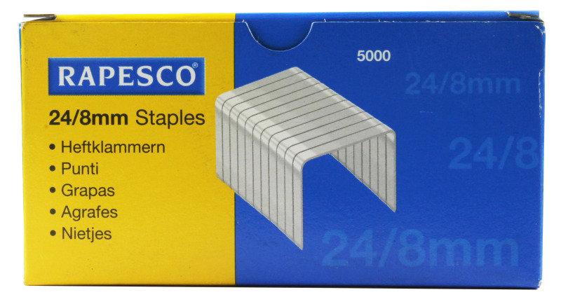 RAPESCO STAPLES 8MM 24/8 PK5000