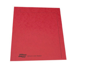 Europa Squarecut Folder Foolscap - Red - Pack of 50