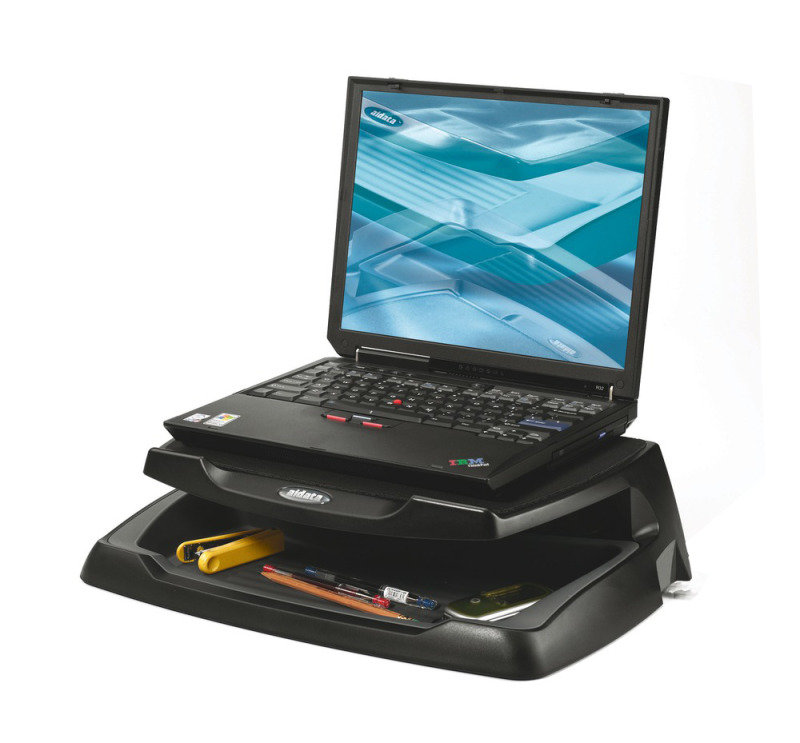 Q Connect Laptop & LCD Monitor Stand - Black
