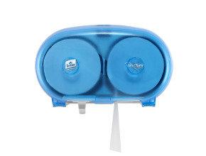 Tork Mid Size Toilet Paper Dispenser Blue Plastic (Pack of 1)