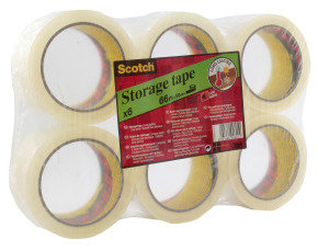 Scotch Low Noise Clear Tape 48x66m 3707 - 6 Pack