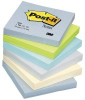 3M POSTIT BALANCED COLOURS PK6 76X76MM