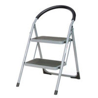 Extra Value 2 Tread Step Ladder - Grey & Blue