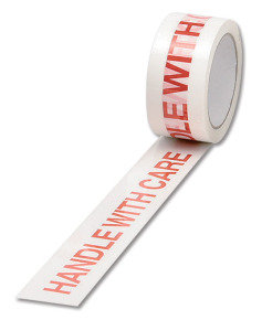 Ambass Tape Handle With Care White/red - 6 Pack
