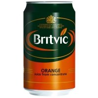 Britvic Orange Juice 330ml Cans - 24 Pack