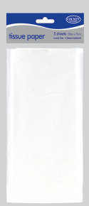Tissue Paper White 5 Sheets 500x75mm Pk36