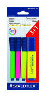 STAEDTLER HIGHLIGHTERS PK3 PLUS 1 ASSTD