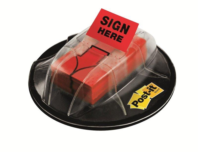POSTIT NEW SIGN HERE DESK GRIP DISPENSER