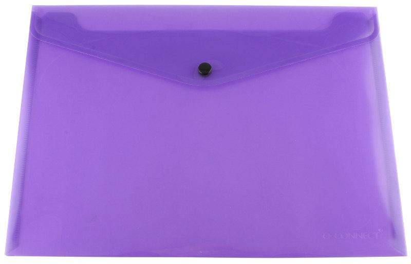 Qconnect Doc Folder Polyprop A4 Purple  12 Pack