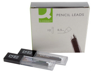 Q Connect Pencil Leads 0.5mm - 12 Pack