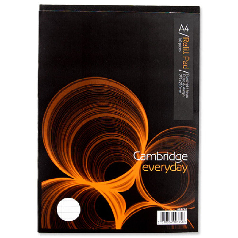 Cambridge Rfl Pad A4 4h Fm Head Bound - 5 Pack