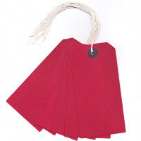 Q CONNECT STRUNG TAG 120X60MM RED PK1000
