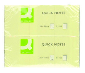 Q Connect Quick Sticky Note 40x50mm Ylw - 12 Pack