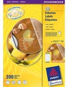 AVERY LASER CLASSIC SIZE CD/DVD 100SHTS