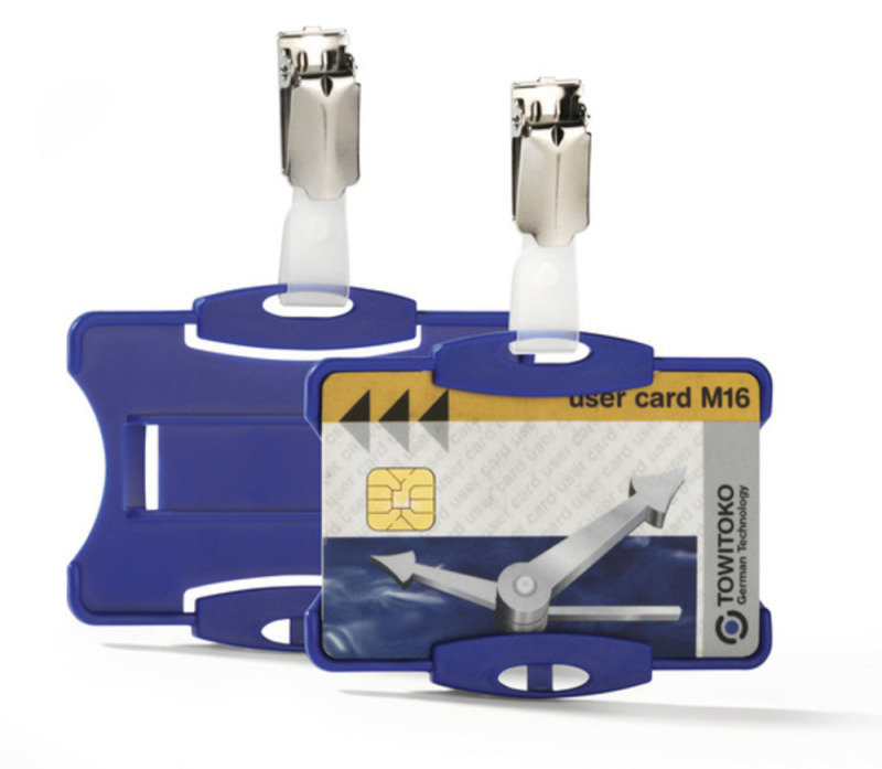 Durable Security Pass Holder Blue 25 Pack