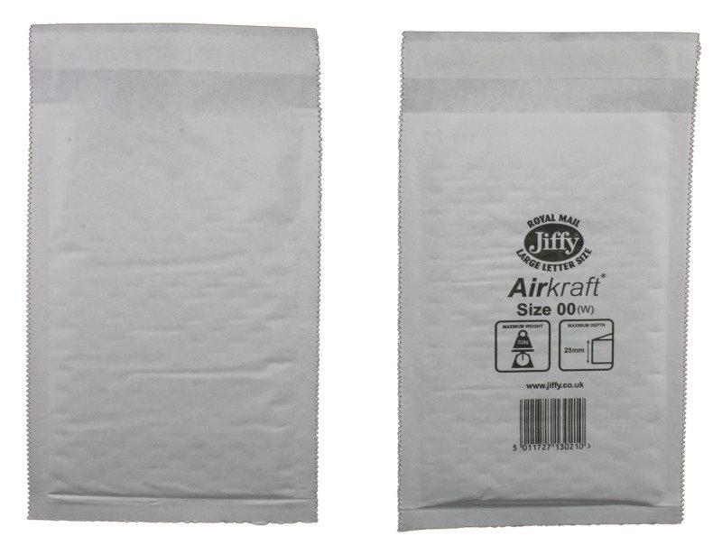 JIFFY AIRKRAFT WHT 115X195MM PK100 JL-00