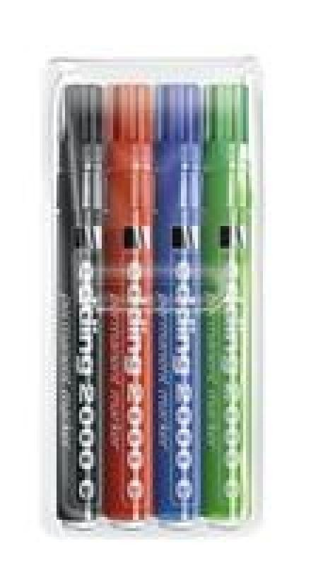 EDDING PERMANENT MARKERS ASSORTED PK4