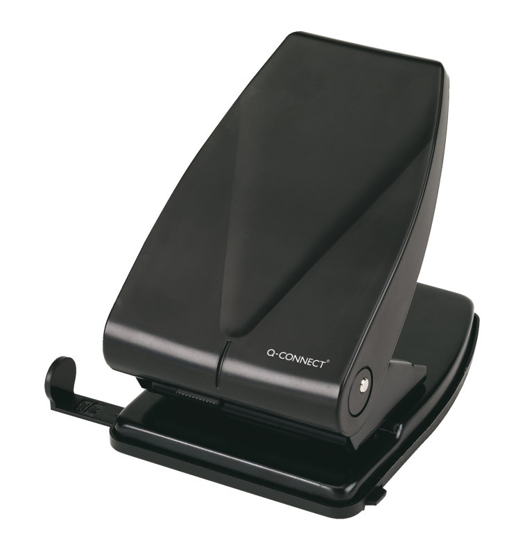 Q CONNECT HOLE PUNCH HEAVY DUTY BLACK