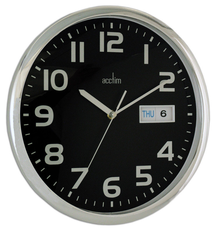 Image of ACCTIM SUPERVISOR WALL CLOCK CHRM/BLACK