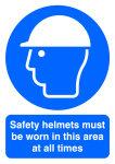 SIGNSLAB A4 SAFETY HELMETS M/B/WORN PVC