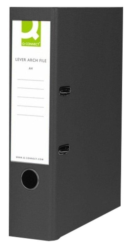 Q Connect L/arch File Fc Polyprop Blk - 10 Pack