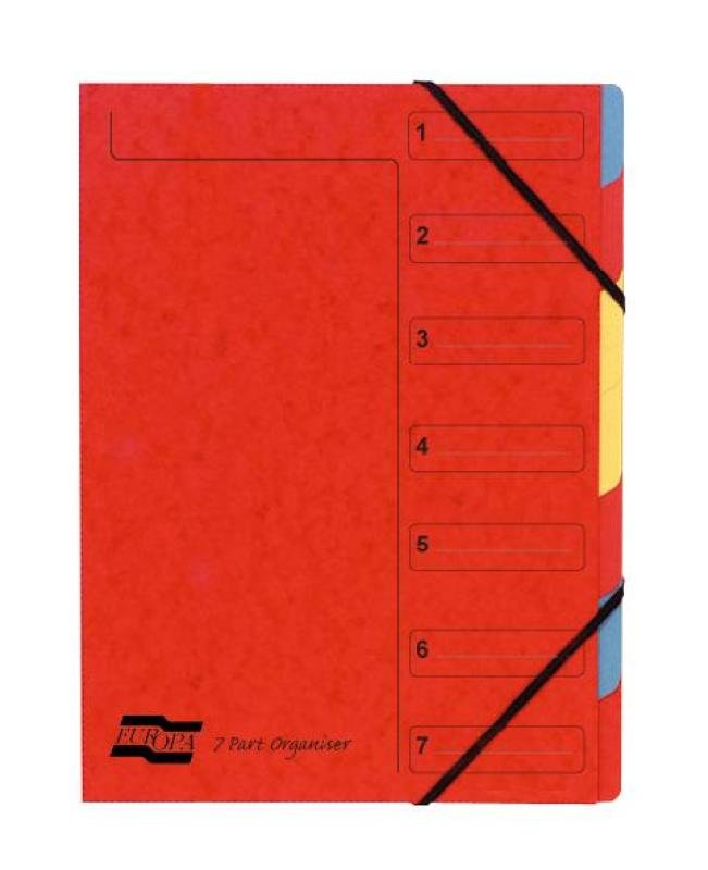 Image of Europa 7 Part Organiser Red