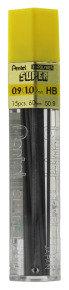 Pentel Leads 0.9mm Tube15 Hb 50/hb9 - 12 Pack