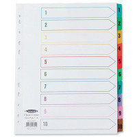 Concord Index 1-10 A4 White With Multi-Colour Tabs
