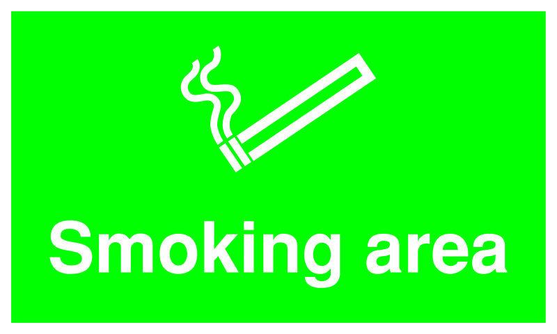 SIGNSLAB 300X500 SMOKING AREA PVC