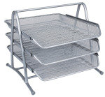 Qconnect 3 Tier Letter Tray Silver