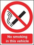 Extra Value A5 Self Adhesive Safety Sign - No Smoking