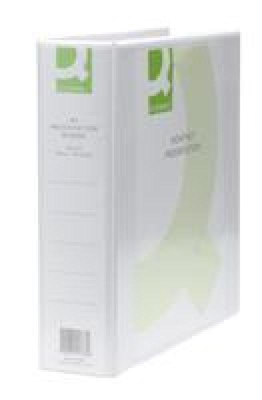 Q Connect Pres Binder 4dring 50mm White - 6 Pack