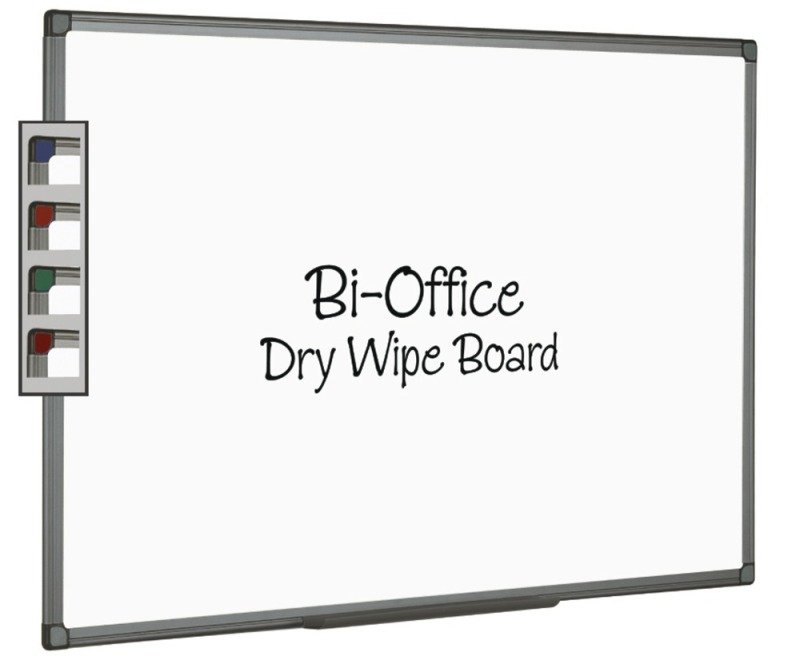 BIOFFICE WHTBRD 900X600MM ALUM FINISH
