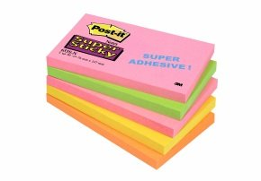 Post-it Super Sticky 76x127mm Cape Town Notes (Pack of 5) 655-SN