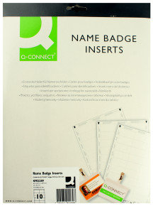 Q CONNECT NAME BADGE INSERTS 54X90 PK25