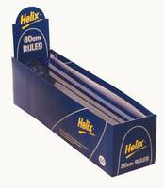Image of Helix Ruler 30cm/12in S/proof Blu L16025 - 50 Pack
