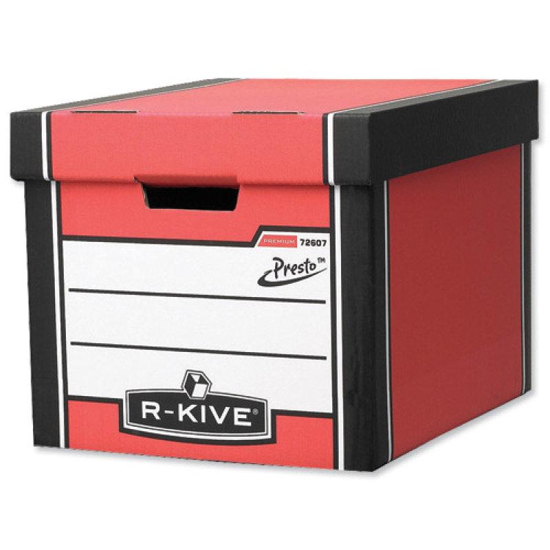 Fellowes R-Kive Premium Presto Storage box Red/White - 10 Pack