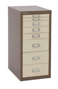 Bisley Multidrawer Non Locking 8 Drawer Cabinet - Coffee/ Cream