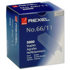 REXEL STAPLES NO66/11 11MM 06070 PK5000