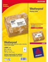 AVERY WEATHERPRF SHIP LBL 99.1X139MM P25
