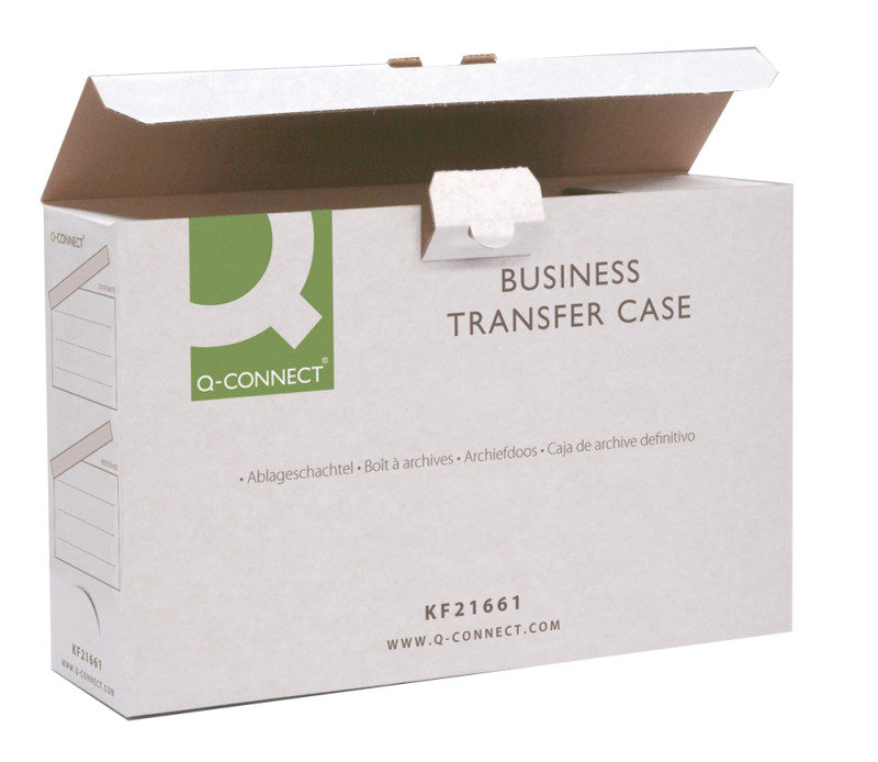 Q-Connect White Business Transfer Case (Pack of 10)